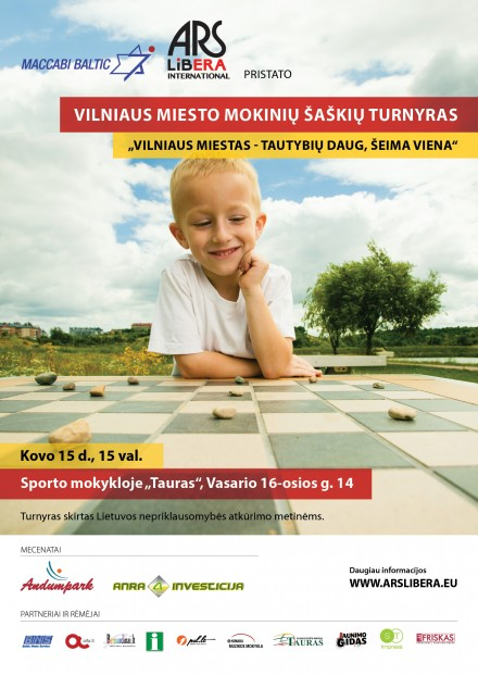 "Children's checkers tournament  ""Vilnius city – many nationalities, one family"" 2016 03 15"