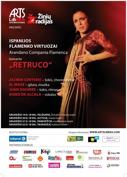 """""""Arandano Compania Flamenca"""" su programa """"Retruco"""" I Gruodžio 19-31d."""