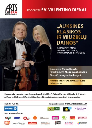 Golden classical and musical songs I February 14th Marijampole