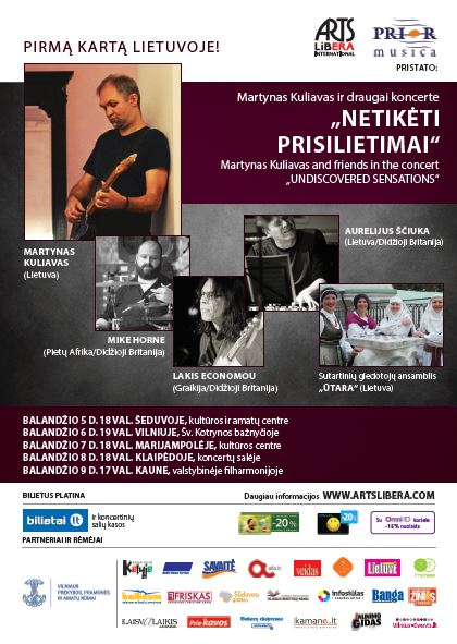 "Martynas Kuliavas & friends in the concert ""Undiscovered Sensations"" I april 5-9th"