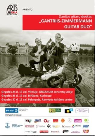Guitar masters Gantriis-Zimmermann Guitar Duo (Denmark) I May 24th Vilnius, May 25th Birštonas, May 27th Palanga