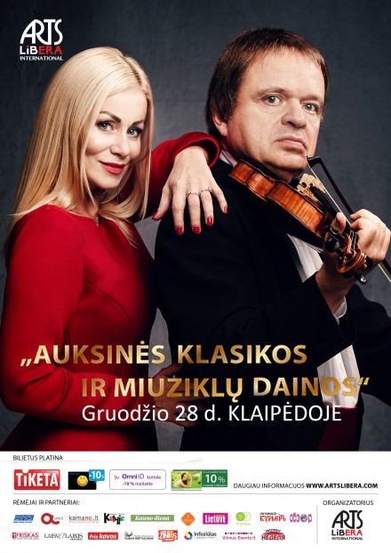 Golden classical and musical songs I December 28th Klaipeda