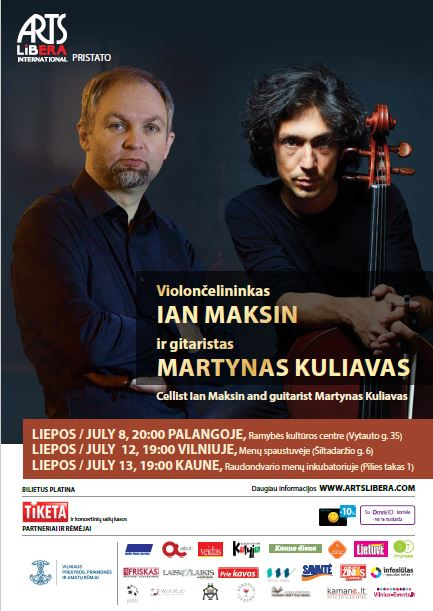 Cellist Ian Maksin and guitarist Martynas Kuliavas I July 8-13th