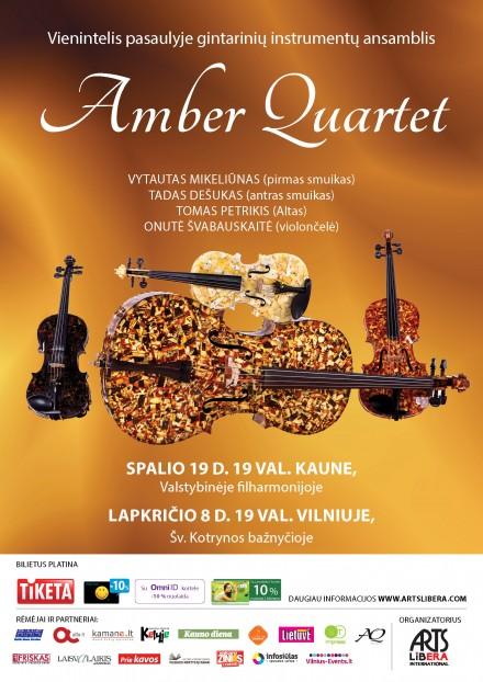 Amber Quartet I Spalio 19 – gruodžio 21