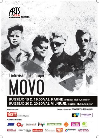 MOVO I september 15th Kaunas, september 20th Vilnius