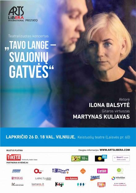 Tavo lange – svajonių gatvės I Lapkričio 26 d. Vilnius