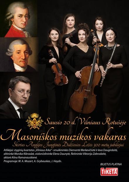 Masoniškos muzikos vakaras I sausio 20 d. Vilnius