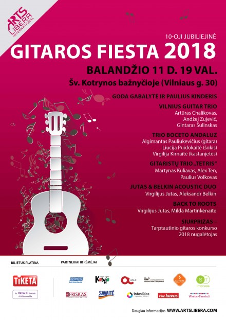10th Anniversary Guitar Fiesta 2018 I April 11 th Vilnius