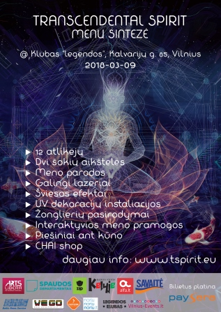 Transcendental Spirit – art synthesis I March 9th Vilnius