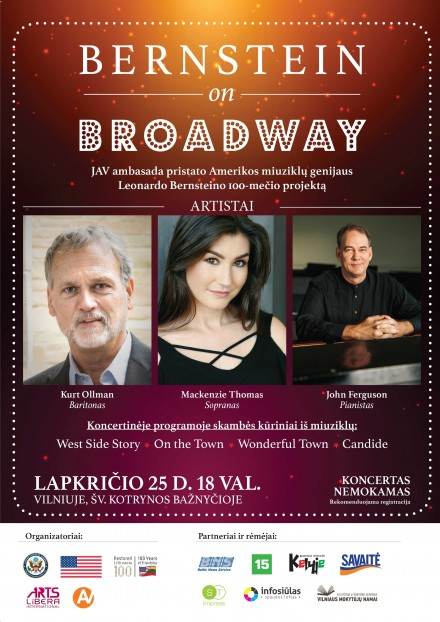 Bernstein on Broadway I November 24th Kaunas, 25th Vilnius