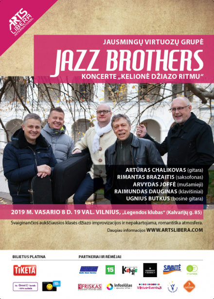 "Jazz Brothers in the concert ""Journey to the Rhythm of Jazz"" I February 8th. Vilnius"