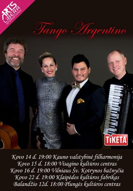 """""""Tango Argentino"""" I kovo 14 – balandžio 12 d."""