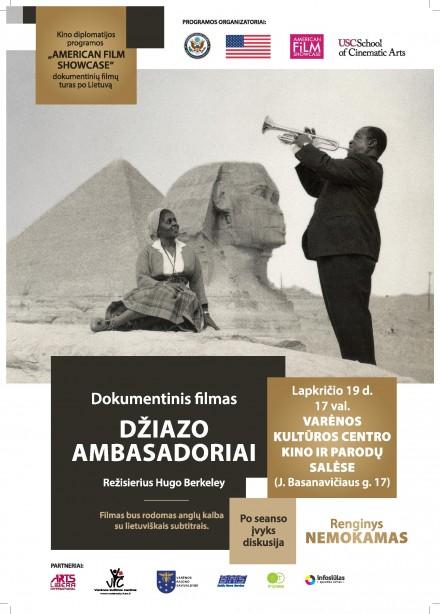 """Dokumentinio filmo """"Džiazo ambasadoriai"""" seansas"""